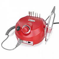Фрезер машинка для маникюра и педикюра с реверсом 35000 оборотов 30 Вт Nail Drill DM-202 Красный, (Оригинал)