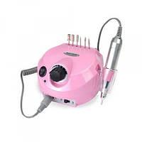 Фрезер машинка для маникюра и педикюра с реверсом 35000 оборотов 30 Вт Nail Drill DM-202 Розовый, (Оригинал)