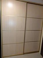 Гардеробная комната раздвижная светлое ДСП