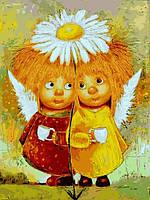 Картина по номерам Пара солнечных ангелов, 30x40 см., Babylon VK233 Діти, ангели