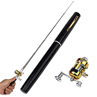 Складная телескопическая удочка ручка спининг Fishing Rod в виде ручки походная портативная, (Оригинал)