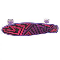 Скейт MS 0749-1 (Фиолетовый). Детский скейт пенни-борд.