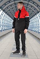 Спортивный мужской костюм Puma XTG (Чёрно-красный), чоловічий спортивний костюм