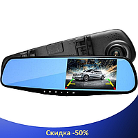 """Автомобильный видеорегистратор L604 4,3"""" с антибликовым покрытием - авторегистратор зеркало заднего вида"""