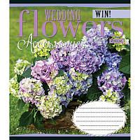 Тетрадь в линию 60 л 1 Вересня А5 WEDDING FLOWERS микс 4 обложки (763674)