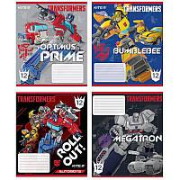 Тетрадь в косую 12 л Kite Transformers микс 4 обложки (TF20-235)