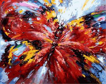 Картина по номерам Алая бабочка. Худ. Зиновий Сыдорив, 40x50 см., Babylon