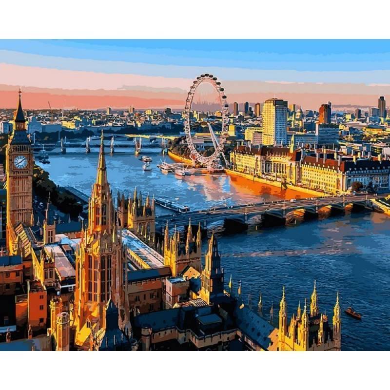 Картина по номерам Лондон. Вид на Темзу, 40x50 см., Babylon