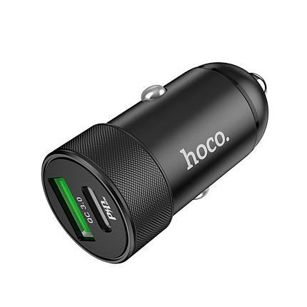 Автомобильное зарядное устройство Hoco Z32B Speed up PD+QC3.0 Black, фото 2