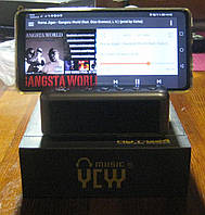 Портативная Bluetooth колонка с подставкой под телефон и будильником HDY-G24 (серебристая)