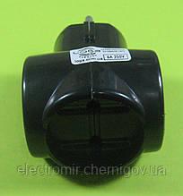 Розгалужувач в розетку потрійний Loga (чорний)