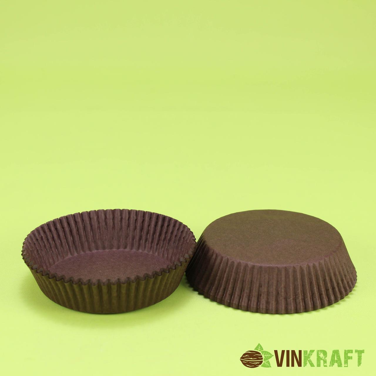 Паперова формочка для тістечок 9 (70х22,5), коричнева