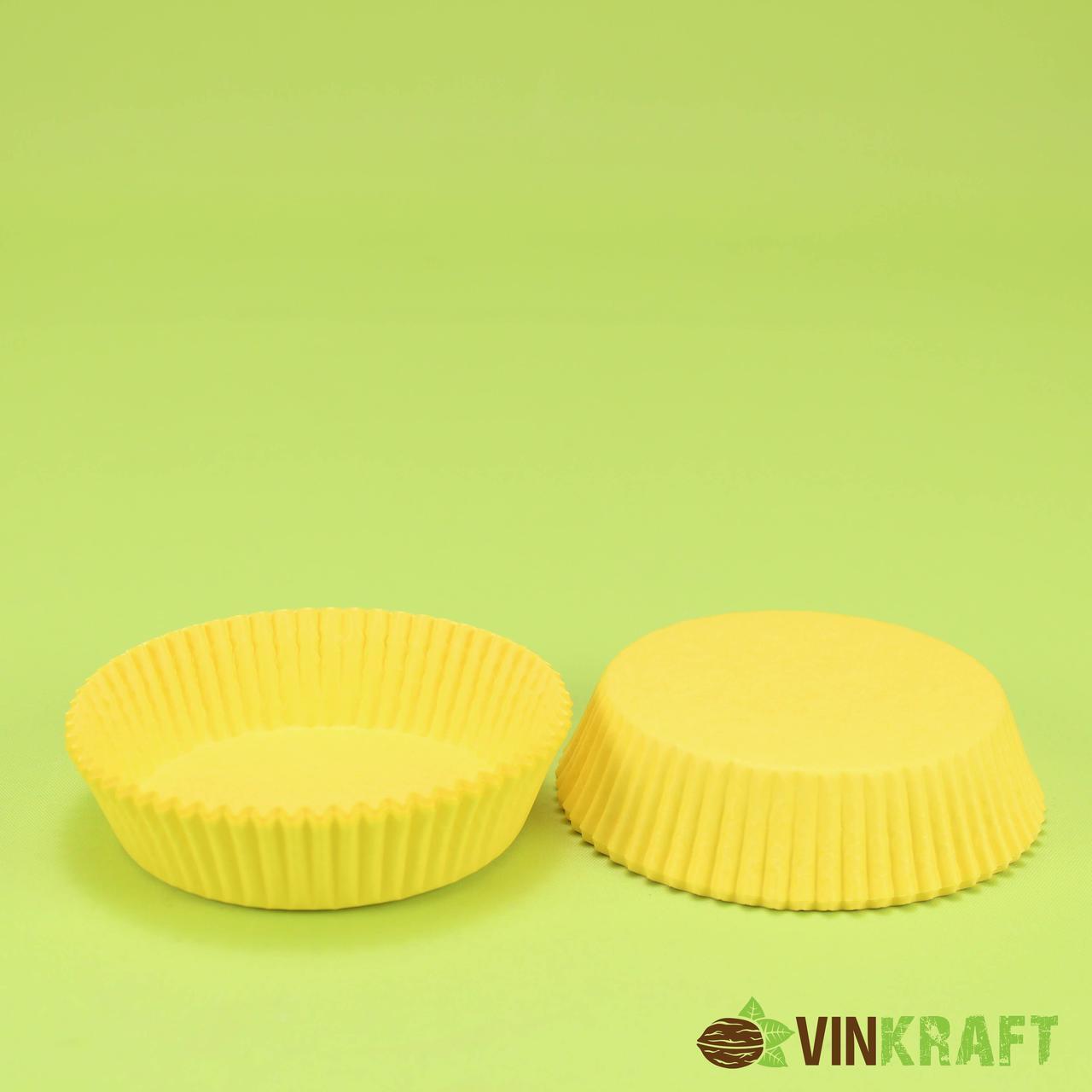 Паперова форма для тістечок 9 (70х22,5), жовта