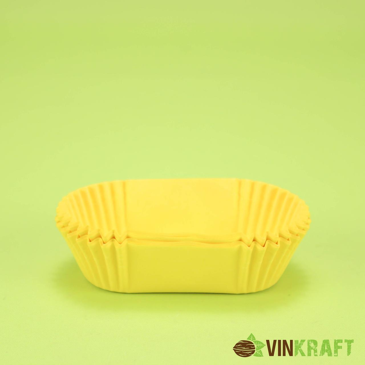 Прямокутна паперова форма Р8 (h30, 80/35), жовта