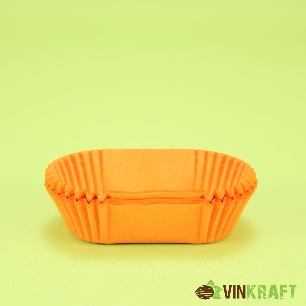 Прямокутна паперова форма Р8 (h30, 80/35), помаранчева