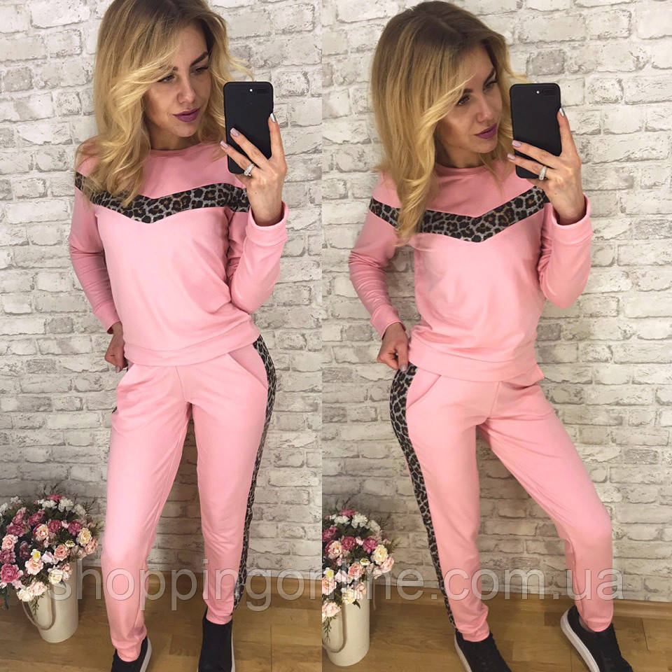 0063 розовый женский спортивный костюм (42,42, 2 ед.)