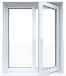 Металлопластиковое окно Steko двухстворчатое поворотно-откидное 1280 х 1400 мм Белый (S300IKJHFBYTD)