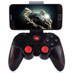 Геймпад беспроводной для смартфона Terios T3 Bluetooth Черный с красным (UFGGBVVC97RH)