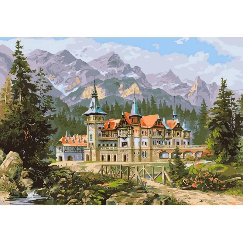 Картина по номерам Замок спящей красавицы, 40х50 см., Babylon VP149 Городской пейзаж, дома