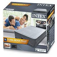 Надувная кровать Intex 64414, встроенный электронасос. Двухспальная 152 х 203 х 46