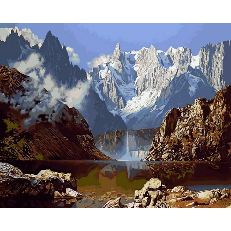 Картина по номерам Горное озеро, 40х50 см., Babylon VP1143 Пейзаж, природа