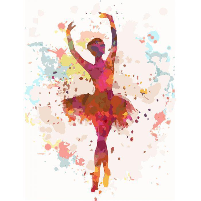 Картина рисование по номерам Идейка Балерина 2 30х40см КНО2672 набор для росписи, краски, кисти, холст