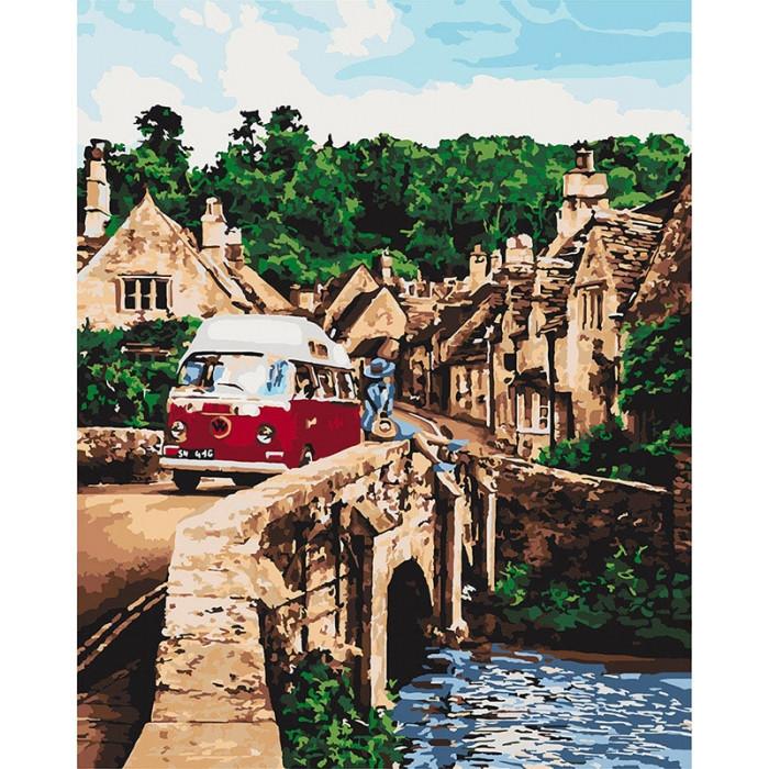 Картина по номерам Идейка КНО2269 Незабутня подорож 40х50см ідейка картины Городской пейзаж, дома