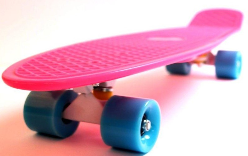 "Скейт скейтборд пенни борд Nickel 27"" розовый"