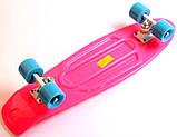 """Скейт скейтборд пенни борд Nickel 27"""" розовый, фото 4"""