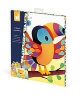 Janod Набор для творчества - Картинки с наклейками Животные