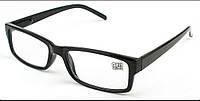 Готовые очки для коррекции зрения. Черная оправа.