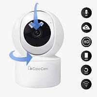 Беспроводная поворотная комнатная IP камера WiFi microSD CareCam 23ST 2 Мп (6914)