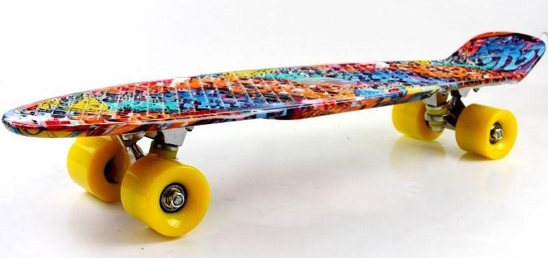 "Скейт скейтборд пенни борд Nickel 27"" graffiti"