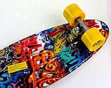 "Скейт скейтборд пенни борд Nickel 27"" graffiti, фото 4"