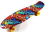 "Скейт скейтборд пенни борд Nickel 27"" graffiti, фото 2"