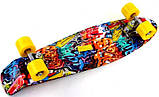 "Скейт скейтборд пенни борд Nickel 27"" graffiti, фото 3"