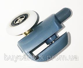Ролик для душової кабіни, гідробоксу - нижній, натискний, сірий (B43A)