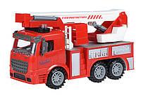 Машинка инерционная Same Toy Truck Пожарная машина с подъемным краном со светом и звуком (98-617AUt)