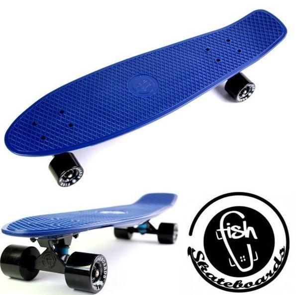 """Скейт скейтборд пенни борд Nickel 27"""" fish синий"""