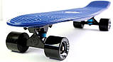 """Скейт скейтборд пенни борд Nickel 27"""" fish синий, фото 4"""