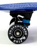 """Скейт скейтборд пенни борд Nickel 27"""" fish синий, фото 5"""