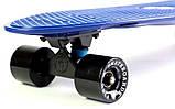 """Скейт скейтборд пенни борд Nickel 27"""" fish синий, фото 6"""