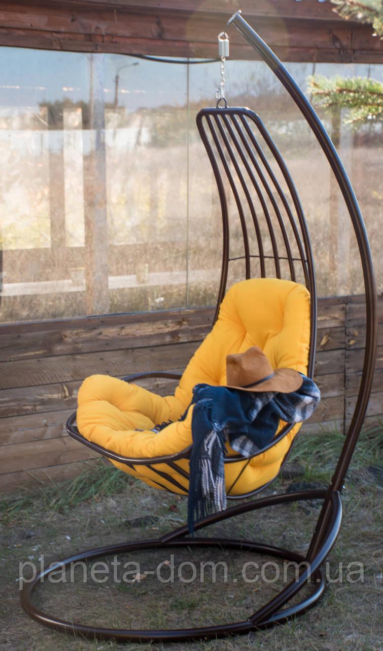 """Підвісне крісло-кокон """"Делі"""" коричневе"""