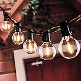 Светодиодный винтажный светильник-гирлянда  G40 на солнечной батарее 10 ламп, фото 7
