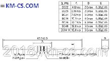 Дроссель EC24-R39K /LGA0307-R39K