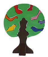 Nic Конструктор дерев'яний Дерево з птахами темне NIC523098