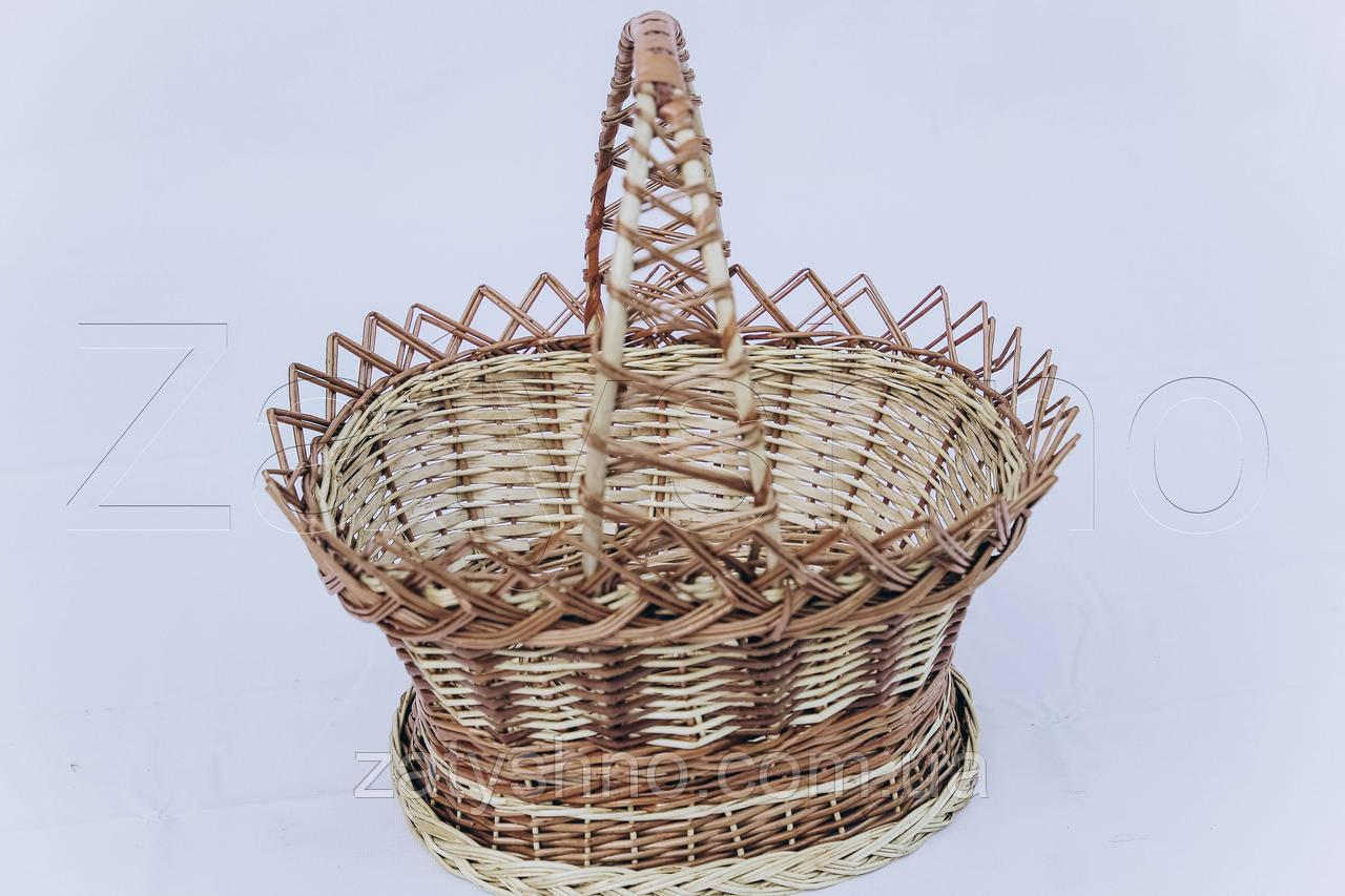 Кошик з лози для пасхи | плетена корзина для паски з лози | кошик на великдень