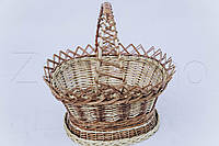 Кошик з лози для пасхи | плетена корзина для паски з лози | кошик на великдень, фото 1