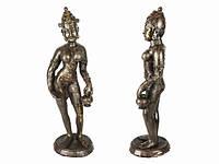 Статуэтка Этническая Дэви с кувшином Камень с Сусальным Золотом 50х15х15 см (11044)
