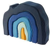 Конструктор деревянный Nic Пещера Синий (NIC523323)